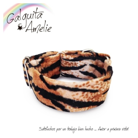 collar de perros fluffy tiger