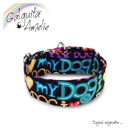 collar para perro I love my dog