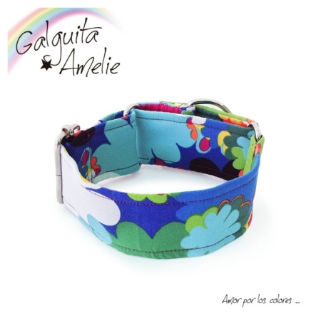 collar para perros blue pop
