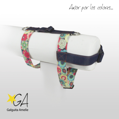 Arnés de seguridad para perros Folk Flowers Jeans