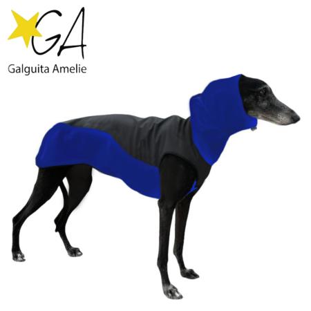 Abrigos softsell azul para galgos y podencos